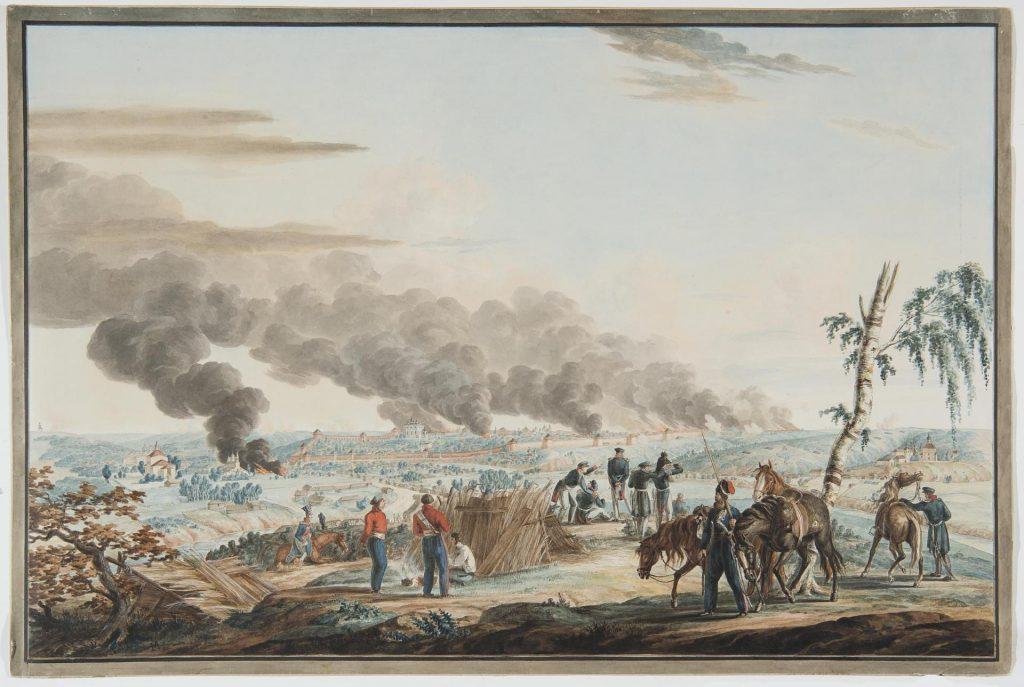 Неизвестный художник. Пожар Смоленска 1812