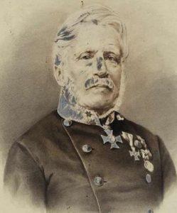 Х. С. фон Мартенс в преклонном возрасте. Не датированное фото из шейного медальона. Главный государственный архив, Штуттгарт.