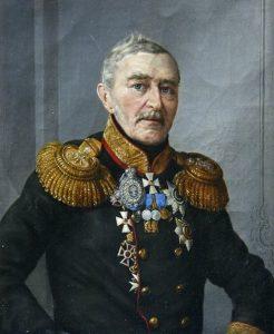 На портрете изображен генерал А. П. Никитин