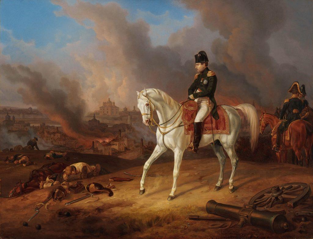 Адам. Наполеон перед горящим Смоленском