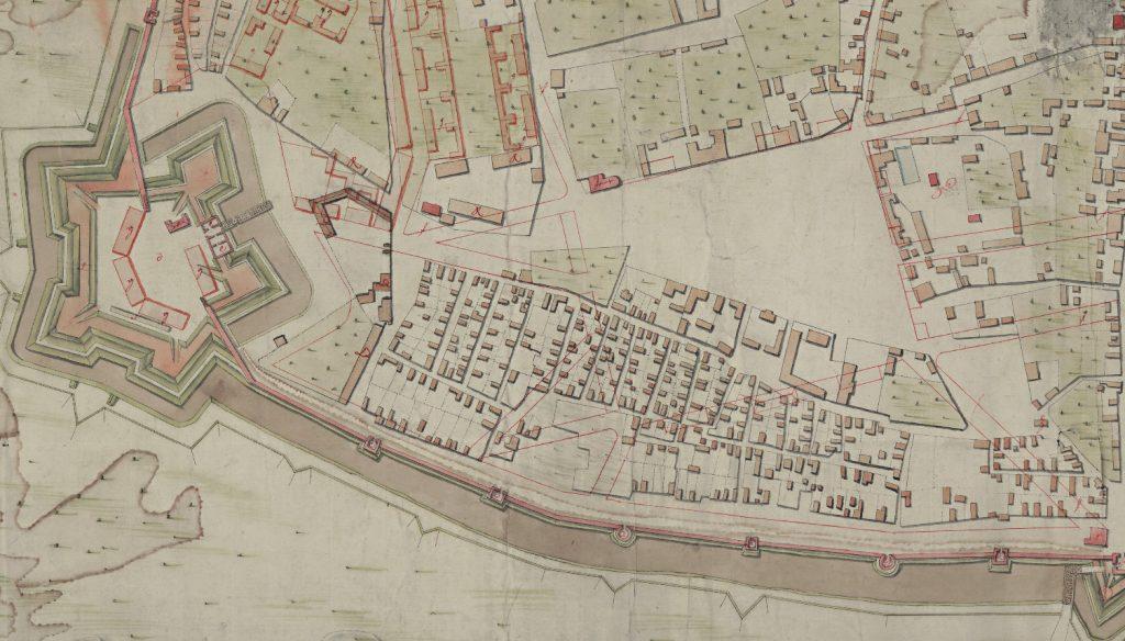Фрагмент плана Смоленска 1778 г.