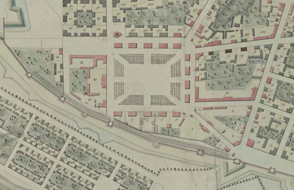 Фрагмент плана Смоленска архитектора В.Гесте, 1817 г.