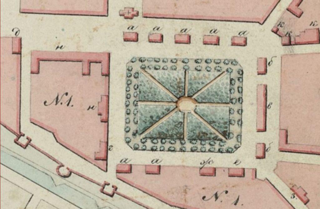 Фрагмент плана Смоленска 1851 г.