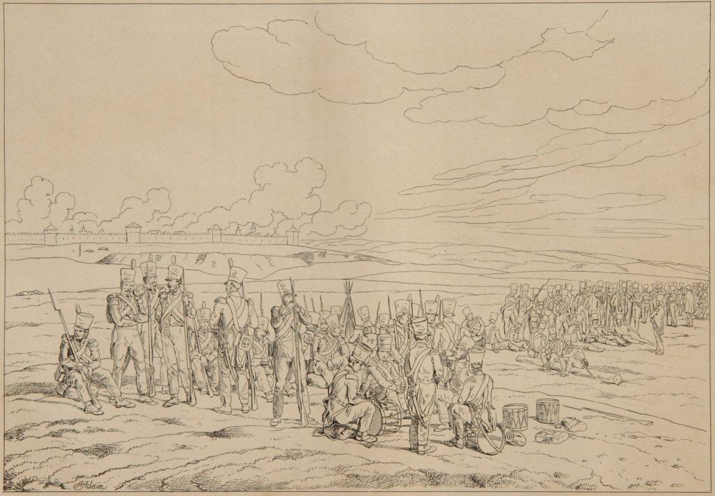 Адам. Привал полка французских гренадеров перед Смоленском 17 августа